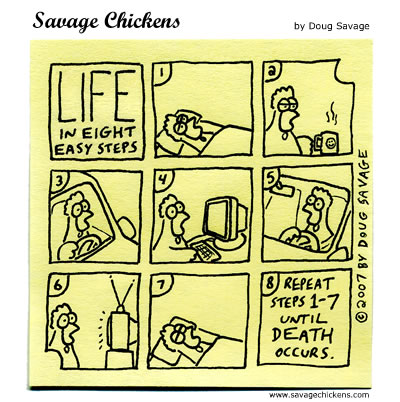 Savage Chickens - Eight Steps