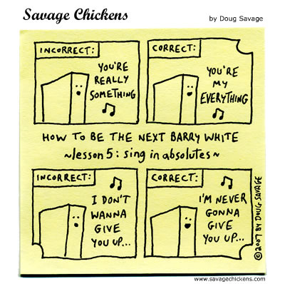 Savage Chickens - Barry White 5