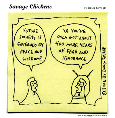 Savage Chickens - Peace and Wisdom
