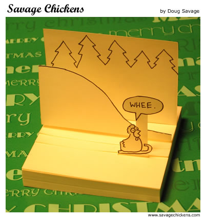 Savage Chickens - Gone Sledding