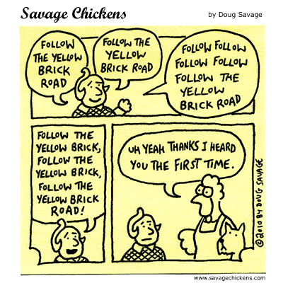 Savage Chickens - Follow