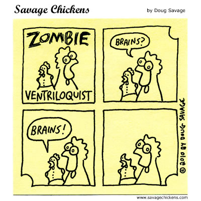 Savage Chickens - Zombie Ventriloquist