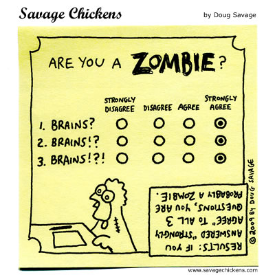 Savage Chickens - The Zombie Test