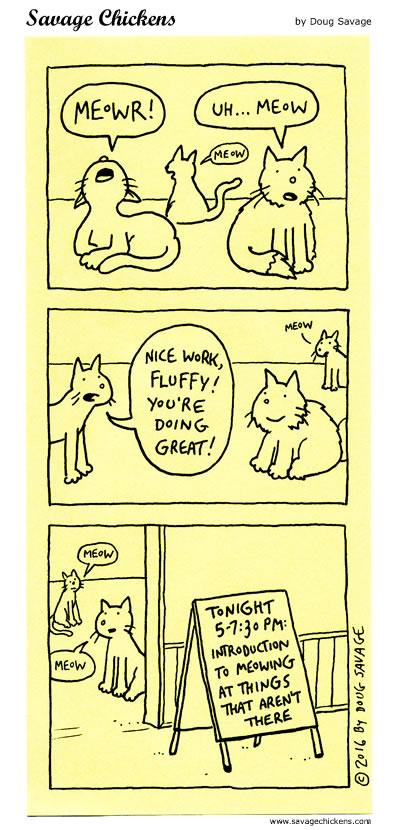 Meowing