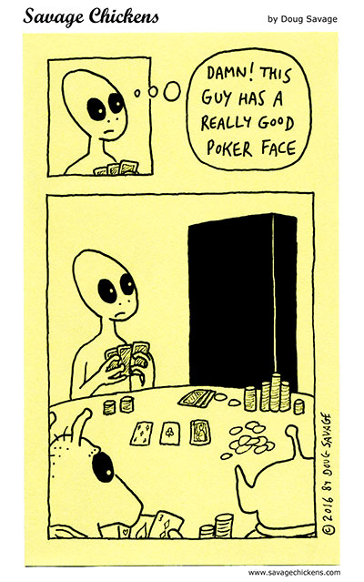 Aliens Playing Poker