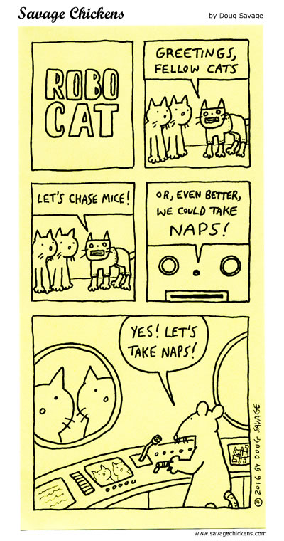 Robocat Has A Plan