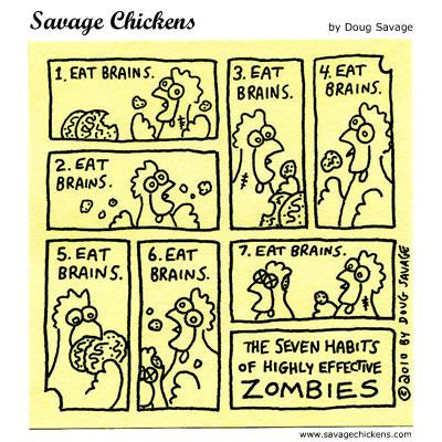 Savage Chickens - Eat Brains