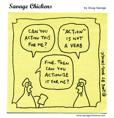 Savage Chickens - Action Item