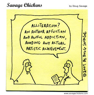 Savage Chickens - Alliteration