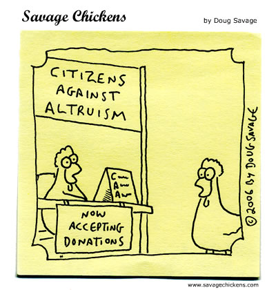 Savage Chickens - Altruism