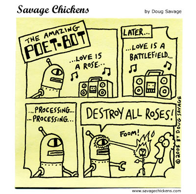 Savage Chickens - Poet-Bot 5