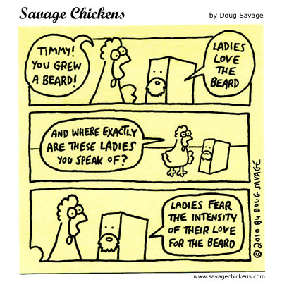 Savage Chickens - The Beard