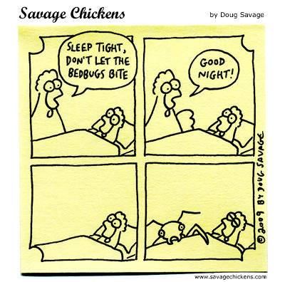 Sleep Tight Cartoon Savage Chickens Cartoons On Sticky Notes By