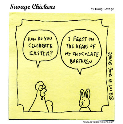 Savage Chickens - Easter Bunny