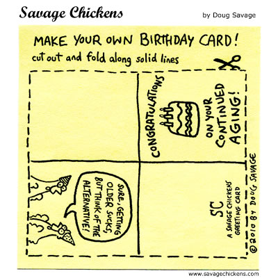 Birthday Card Cartoon Savage Chickens Cartoons On Sticky Notes