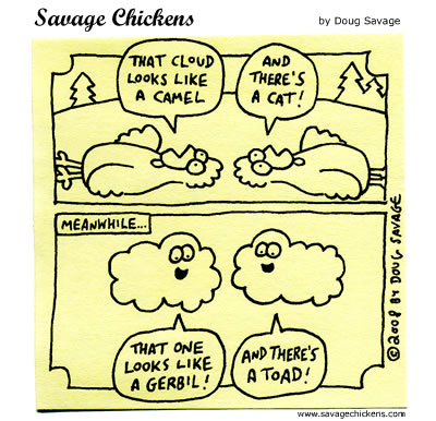Savage Chickens - Clouds