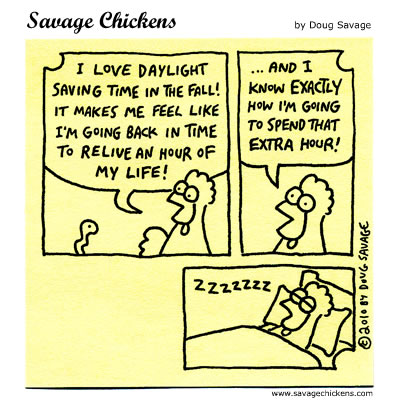 Savage Chickens - Daylight Saving Time