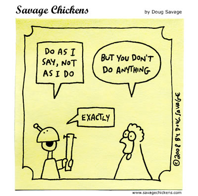 Savage Chickens - Leadership
