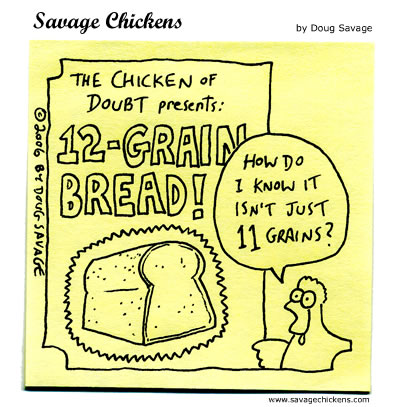 Savage Chickens - Chicken of Doubt