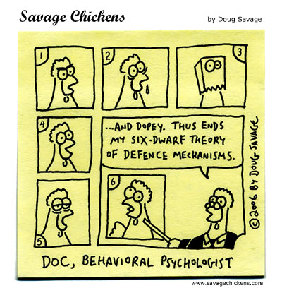 Savage Chickens - Dwarf Psychology