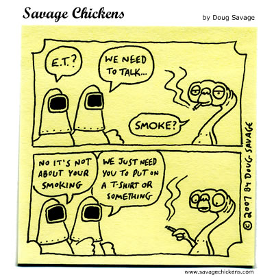 Savage Chickens - Extra Terrestrial