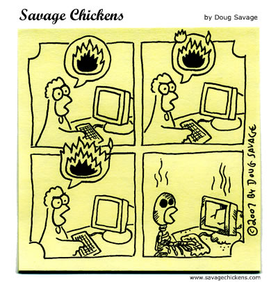 Savage Chickens - Flame Mail