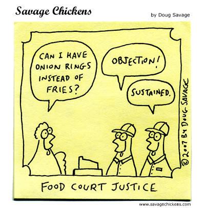 Savage Chickens - Court Order