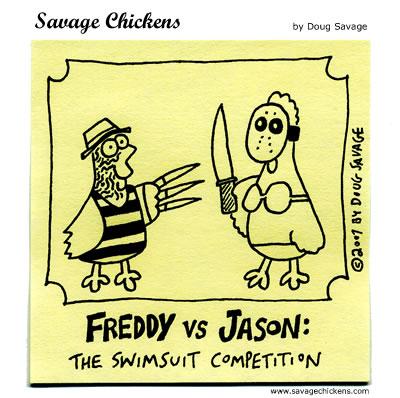 Savage Chickens - Freddy vs Jason