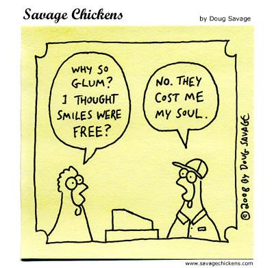 Savage Chickens - Free Smiles