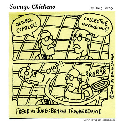 Savage Chickens - Freud vs Jung