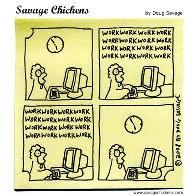 Savage Chickens - Friday