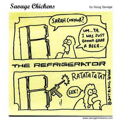 Savage Chickens - Refrigerator