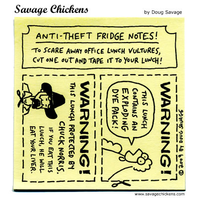 Savage Chickens - Protect Your Lunch