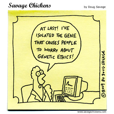 Savage Chickens - Genetic Ethics