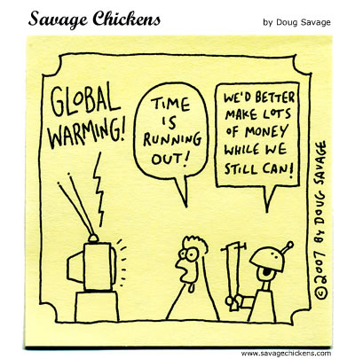 Savage Chickens - Global Warming