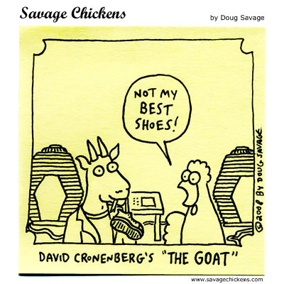Savage Chickens - Brundlegoat