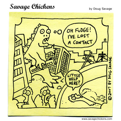 Savage Chickens - Godzilla