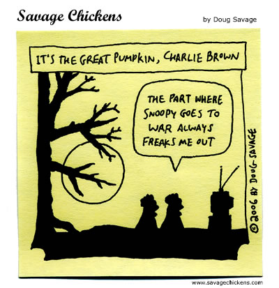 Savage Chickens - Great Pumpkin