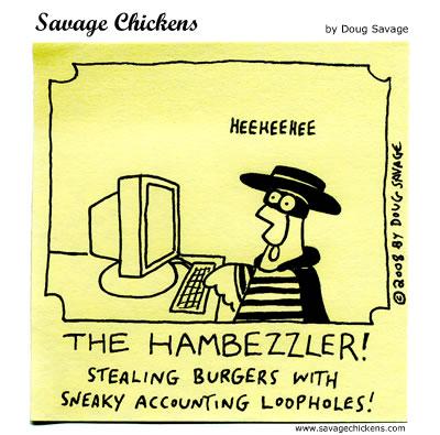 Savage Chickens - Burger Thief