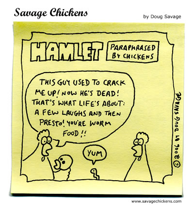 Savage Chickens - Alas, Poor Yorick!