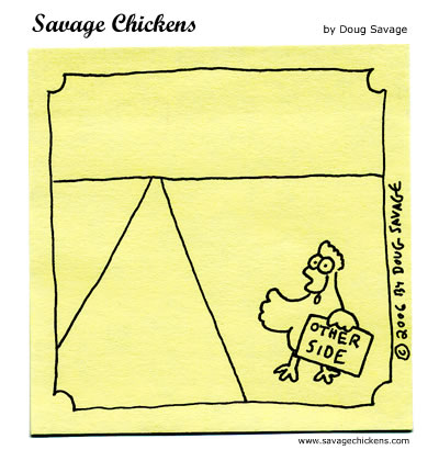 Savage Chickens - Hitchhiker