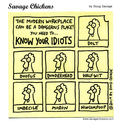 Savage Chickens - Know Your Idiots