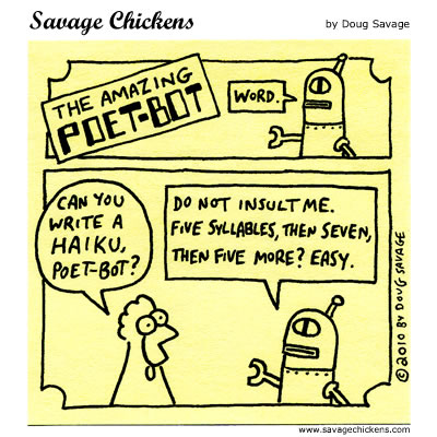 Savage Chickens - Easy Haiku