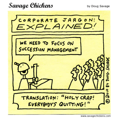 Savage Chickens - Corporate Jargon
