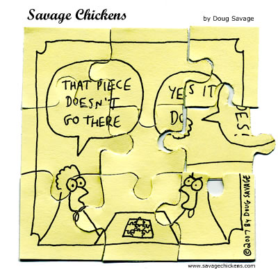 Savage Chickens - Jigsaw