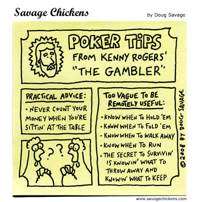Savage Chickens - Poker Tips