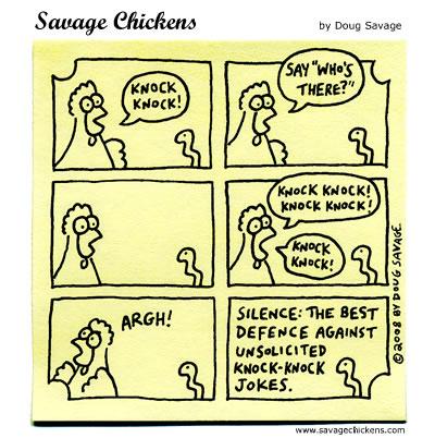 Savage Chickens - Knock Knock