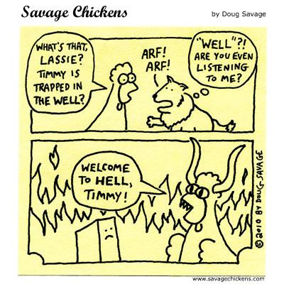 Savage Chickens - Lassie