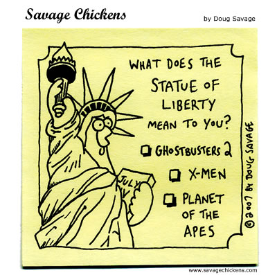 Savage Chickens - Fourth of July