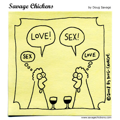 Savage Chickens - Love vs Sex